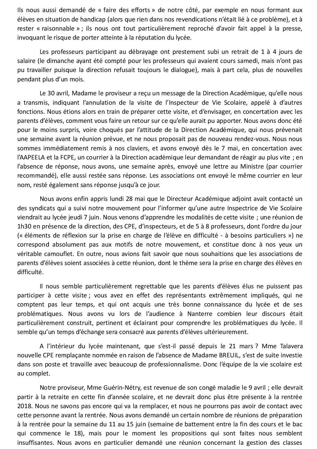 Communique des professeurs du lyce e descartes aux parents 31 mai page 5